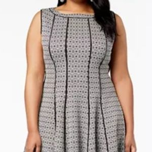 Taylor Plus Size Seamed A-line Dress NEW w/tags